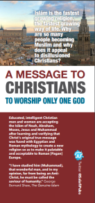 Message to the christians cover